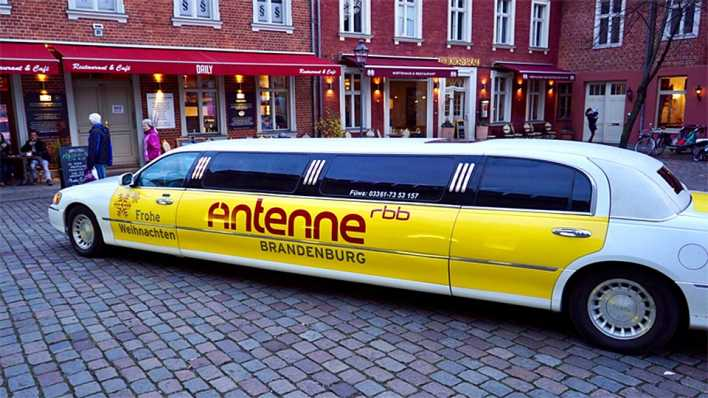 Antenne Stretch-Limousine in Potsdam, Bild: Antenne Brandenburg