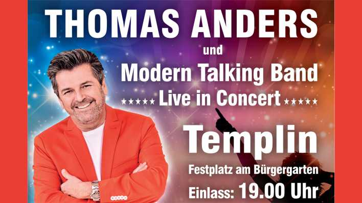 Thomas Anders und Modern Talking Band in Templin, Bild: D. Hoffmann